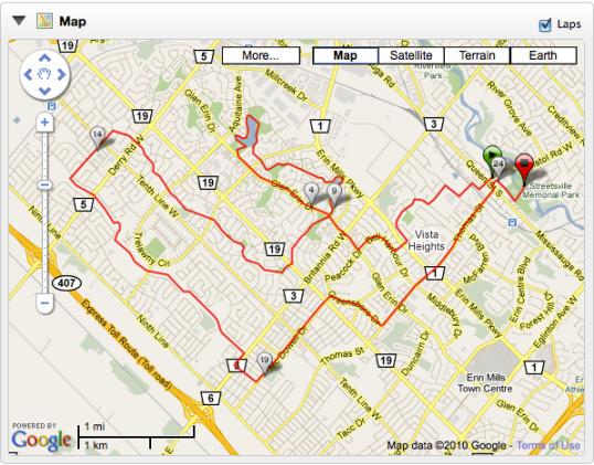 2010 Tour de Mississauga - 25k Route